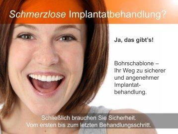 Schmerzlose Implantatbehandlung?