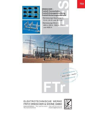 Freiluft-Trennschalter, Freiluft-Erdungsschalter Freiluft ...