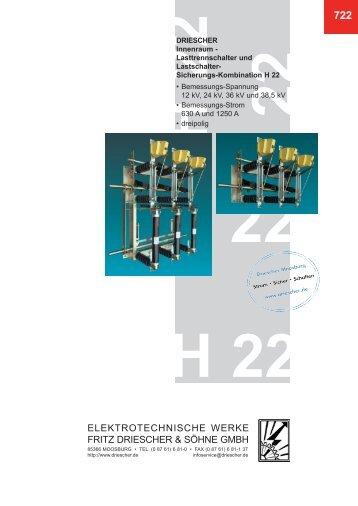 Lasttrennschalter H 22 - Elektrotechnische Werke Fritz Driescher ...