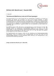 Drillisch AG: Bericht zum 1. Quartal 2001
