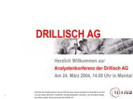 Analystenkonferenz - Drillisch AG