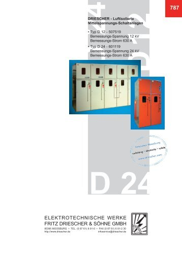 787 Luftisolierte Mittelspannungsanlagen D12, D24