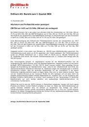 9-Monatsbericht 2000 - Drillisch AG