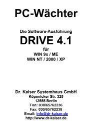 Installationsanleitung DRIVE 4.1 - Dr. Kaiser Systemhaus GmbH