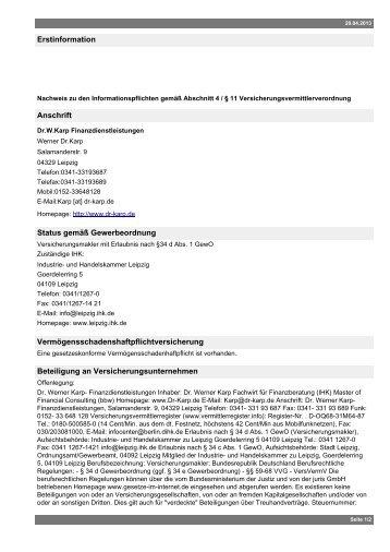Seite als PDF ausgeben - Dr. Werner Karp