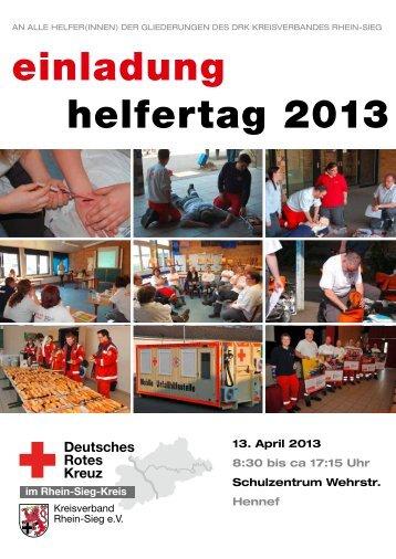 einladung helfertag 2013 - DRK-Bornheim