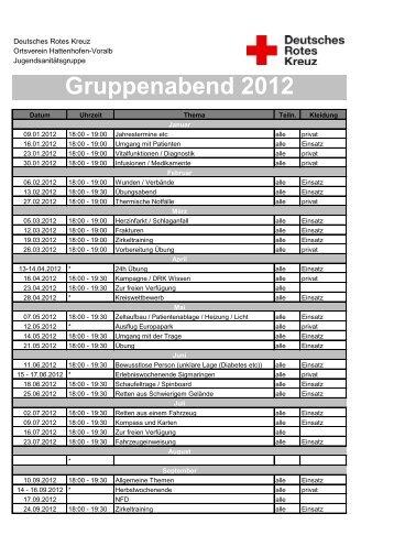 Gruppenabend 2012 - DRK Hattenhofen