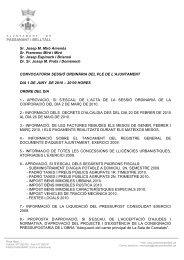Convocatoria ordinaria 01-06-2010 - Passanant i Belltall