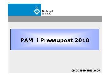 PAM i Pressupost 2010 - CiU