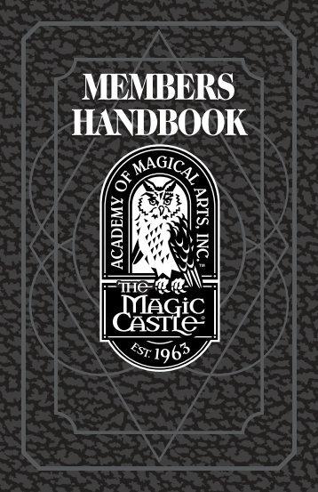 MC Members Handbook.qxd - Magic Castle