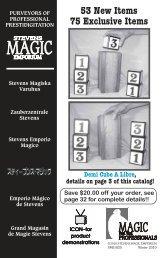 53 New Items 75 Exclusive Items - Stevens Magic Emporium