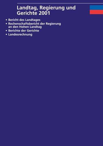 Landtag, Regierung und Gerichte 2001