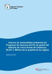 Informe de sostenibilitat ambiental del Programa de mesures del Pla ...