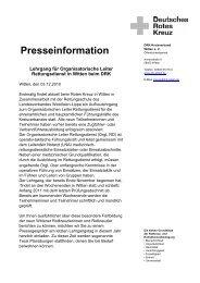Lehrgang für Organisatorische Leiter Rettungsdienst in ... - DRK Witten