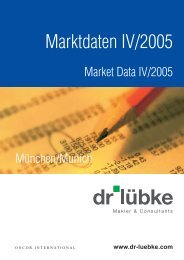 Marktdaten IV/2005 - Dr.  Lübke GmbH