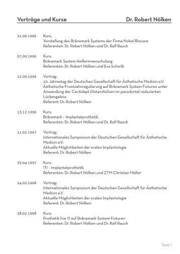Unser komplettes Kurs- und Vortragsverzeichnis ... - Praxis Dr.  Nölken
