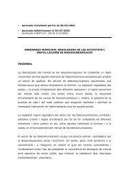 ORDENANÇA MUNICIPAL REGULADORA DE LES ACTIVITATS I ...