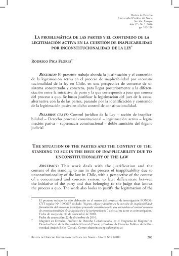 RESUMEN: El presente trabajo aborda la justificación y el ... - SciELO