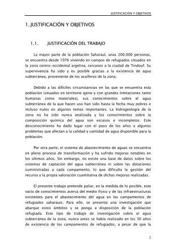 1.JUSTIFICACIÓN Y OBJETIVOS - Ingeniería Sin Fronteras Asturias