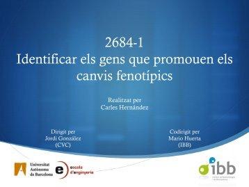 2684-1 Identificar els gens que promouen els canvis fenotípics