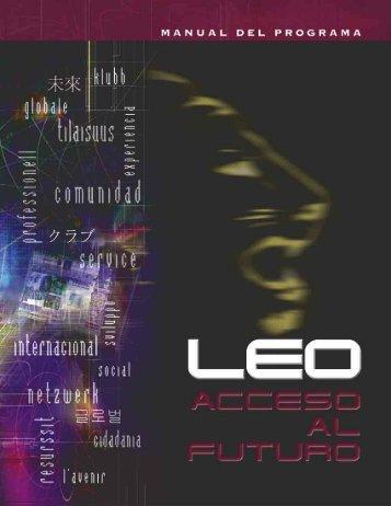 manual del Programa de Clubes Leo - Leoismo Argentino