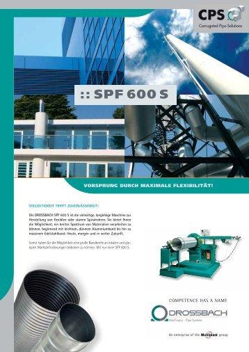 :: SPF 600 S - Drossbach GmbH & Co. KG