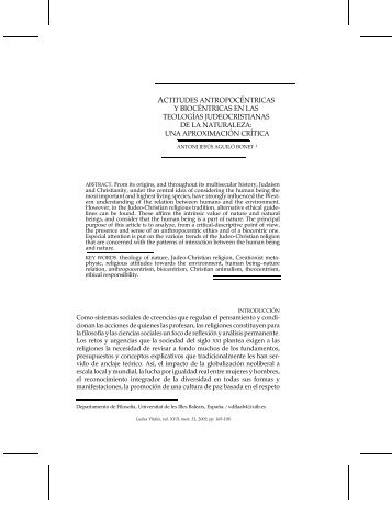 una aproximación crítica - Ludus Vitalis