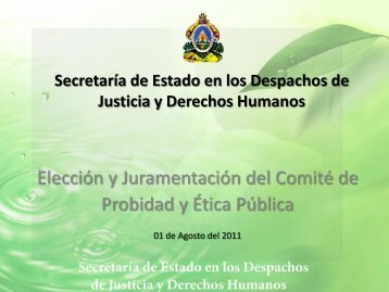 Memoria Fotográfica de la Elección y Juramentación del - SJDH