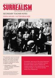 SECONDARY TEACHER NOTES DORA MAAR / VICTOR BRAUNER