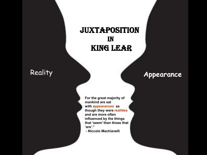 appearance and reality in william shakespeares king lear Hamlet - appearance vs reality william shakespeare all's well that ends well king lear plot summary discussion questions.