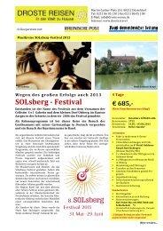SOLsberg - Festival - Droste-Reisen