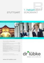 STUTTGART BÜROMARKT 1. Halbjahr 2011 - Dr. Lübke GmbH