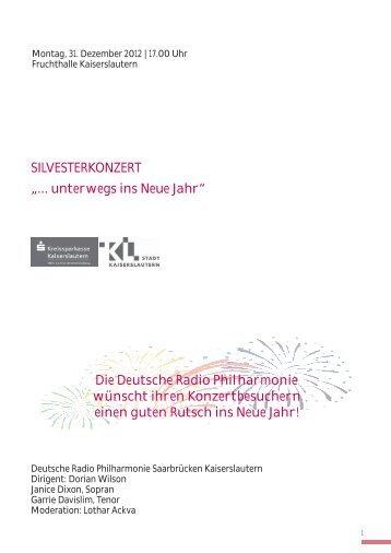 Programmhefte - Deutsche Radio Philharmonie :: Saarbrücken ...