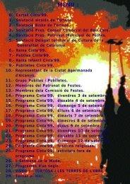 PROGRAMA FESTES CINTA'99 - tortosa.es
