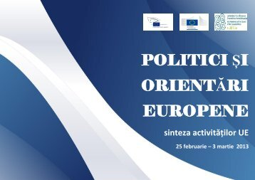 POLITICI ȘI ORIENTĂRI EUROPENE