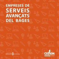 Catàleg d'empreses de serveis avançats del Bages 2008 - Cedem ...