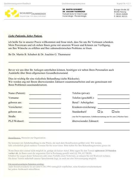 Qualitätsmanagement-Handbuch Messung