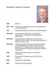 Lebenslauf Dr. Joachim G. Thummerer 1966 Geboren 1987 – 1993 ...