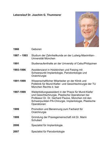 lebenslauf dr joachim g thummerer 1966 geboren 1987 1993 - Beethoven Lebenslauf