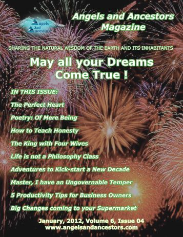 Angels and Ancestors Magazine, January 2012, volume 6, issue 4