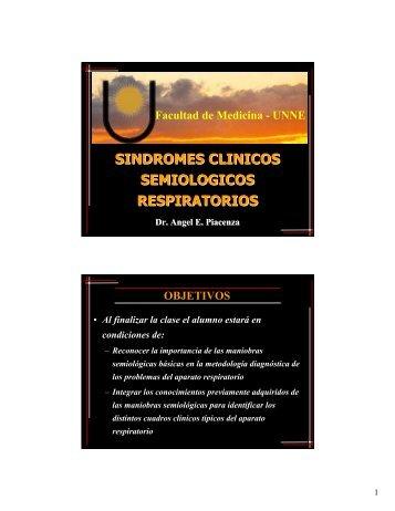 sindromes clinicos semiologicos respiratorios - Facultad de Medicina