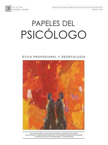 Ver pdf en Español - Papeles del Psicólogo