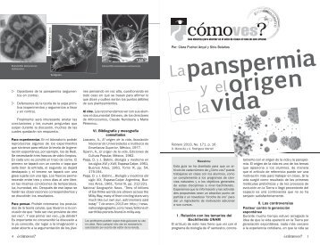vida panspermia origen - Cómo ves? - UNAM