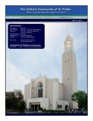 Mass Schedule SACRAMENT OF PENANCE (confessions)