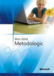 MiniGhid Metodologic - Facultatea de Matematică şi Informatică