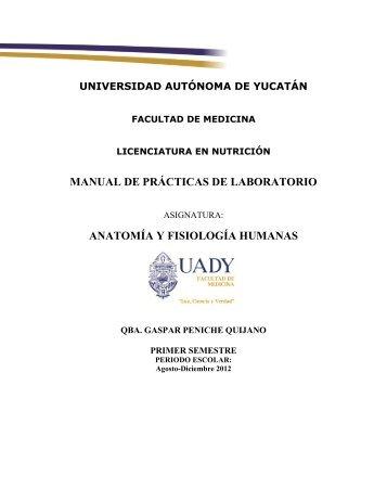 Manual de Prácticas de Laboratorio - Anatomía y Fisiología Humanas