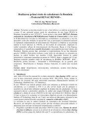 Realizarea primei retele de calculatoare în România - Proiectul - ATIC