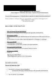 relatori e temi trattati - Zahnärzte Dr. Regina und Prof. Dr. Liviu Steier