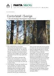 Contortatall i Sverige - ett storskaligt ekologiskt experiment - SLU