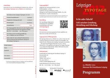 Programm - Museum für Druckkunst